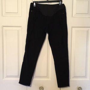 Pink Blush Maternity Black Distressed Skinny Jeans